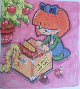 """Dibujo cuento """"Carlota es feliz"""""""